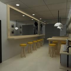 CAFETERIA INDUSTRIAL MODULAR: Comedores de estilo  por SIMETRIC ARQUITECTURA INTERIOR