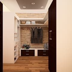 Dressing room by GarDu Arquitectos , Minimalist Wood Wood effect