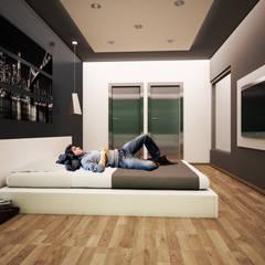 Recamara Moderna : Recámaras de estilo  por GarDu Arquitectos