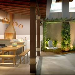 Garajes de estilo  por Reinaldo Pampolha Arquitetura