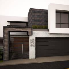 خانه ها توسطGarDu Arquitectos , مینیمالیستیک سنگ