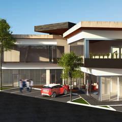PLAZA COMERCIAL MINIMALISTA : Centros Comerciales de estilo  por GarDu Arquitectos