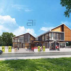 NHO PROJECT renovation:  กำแพง โดย Glam interior- architect co.,ltd, โมเดิร์น คอนกรีต
