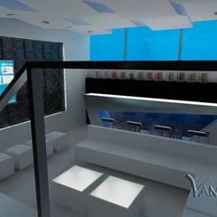 PROYECTO TERRAZA Y DISCOTECA LA PLANICIE - LIMA PERU: Salas de entretenimiento de estilo  por Vanguardist Design Studio