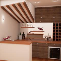 Zona de Bar: Bodegas de vino de estilo clásico por Spacio5
