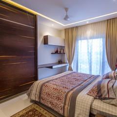 3 BHK apartment - RMZ Galleria, Bengaluru:  Bedroom by KRIYA LIVING