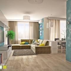 Living room by Мастерская интерьера Юлии Шевелевой