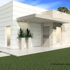 Moradia Santarém (100,00 m2) - Construção LSF: Casas  por ATELIER OPEN ® - Arquitetura e Engenharia