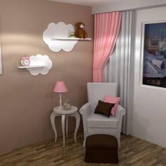 HABITACION DE NIÑA: Dormitorios infantiles de estilo  de Raquel Rodriguez