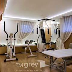 Gym by TiM Grey Interior Design