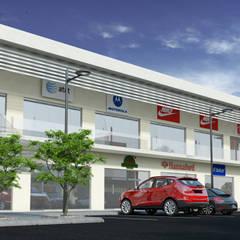 PLAZA BPG: Centros Comerciales de estilo  por Acrópolis Arquitectura