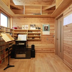 rustic Media room by 田村建築設計工房