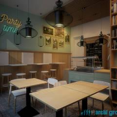 """Kawiarnia """"Migdałowa"""" w Bytomiu : styl , w kategorii Gastronomia zaprojektowany przez Archi group Adam Kuropatwa"""