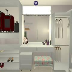 Vista do closet 3: Closets ecléticos por Kestie Arquitetura