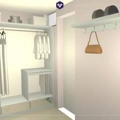 Vista do closet 4: Closets ecléticos por Kestie Arquitetura