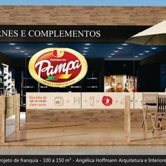 Emporio do Pampa: Espaços gastronômicos  por Angelica Hoffmann Arquitetura e Interiores