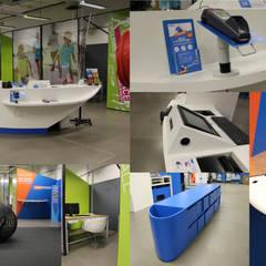 Espace accueil: Locaux commerciaux & Magasins de style  par SVM Claire Humeau