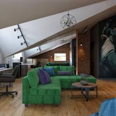 ТАУНХАУС, КЕМБРИДЖ, 165М2: Медиа комнаты в . Автор – Loft&Home