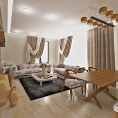 50GR Mimarlık – halkalı_1+1 daire:  tarz Oturma Odası, Modern