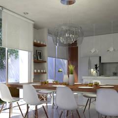 Sala-Comedor-Cocina: Comedores de estilo  por EMERGENTE | Arquitectura