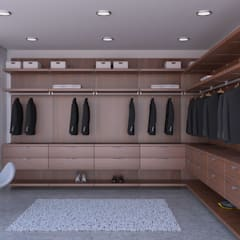 walk in closet: Vestidores de estilo  por WARDROBE