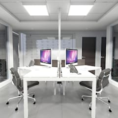 BUFETE DE ABOGADOS LEGACYS : Oficinas de estilo  por Grupo JOV Arquitectos, Minimalista Mármol