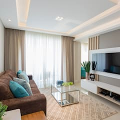 Projeto CV: Salas de estar  por Juliana Agner Arquitetura e Interiores