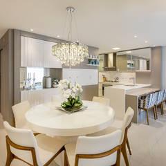 Projeto CV: Salas de jantar  por Juliana Agner Arquitetura e Interiores,Moderno