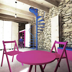 Interior: Comedores de estilo rural por HMJ Arquitectura