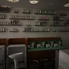 LOCAL NAILS BAR: Espacios comerciales de estilo  por Ecourbanismo