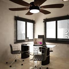 Casa V & Y: Estudios y oficinas de estilo mediterraneo por Ecourbanismo