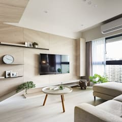 اتاق نشیمن توسط思維空間設計  , مینیمالیستیک