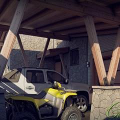 Garage/shed by Компания архитекторов Латышевых 'Мечты сбываются'