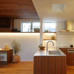 奥沢の家: アトリエ スピノザが手掛けたキッチンです。