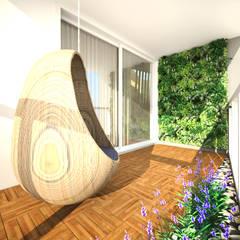 apartamento duplex FRPS: Jardins minimalistas por ecco! archi sudio