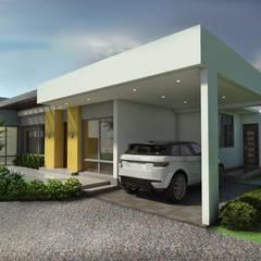 Casa Campestre Villa Celeste: Garajes de estilo  por Arquitecto Pablo Restrepo