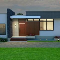 Fachada principal: Casas de estilo moderno por Arquitecto Pablo Restrepo