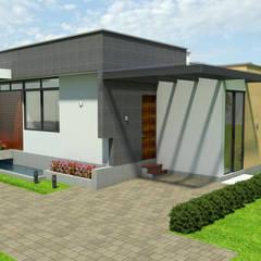 Casa Campestre Tropical Moderno: Garajes de estilo  por Arquitecto Pablo Restrepo