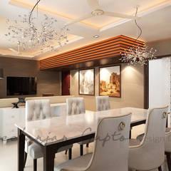 غرفة السفرة تنفيذ Neelanjan Gupto Design Co