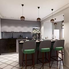 Удобное расположение кухонного гарнитура: Кухни в . Автор – Дизайн студия Алёны Чекалиной