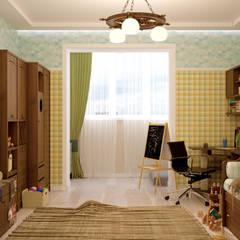 Recámaras infantiles de estilo  por Студия интерьерного дизайна happy.design