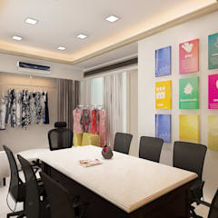 1500 Sqft Fashion brand Office.:  Study/office by Neelanjan Gupto Design Co