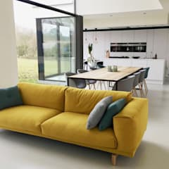 house VC-P: minimalistic Living room by Niko Wauters architecten bvba