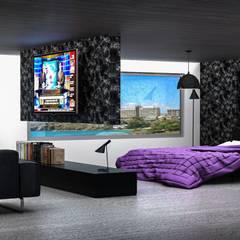 Suite: Hoteles de estilo  por Arq. Gustavo García