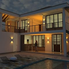 Casa Campestre Horizonte: Terrazas de estilo  por Arquitecto Pablo Restrepo