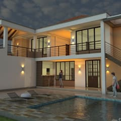 Casa Campestre Horizonte: Piscinas de estilo  por Arquitecto Pablo Restrepo,