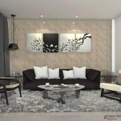 Diseño interior sala: Salas de estilo clásico por Arquitecto Pablo Restrepo