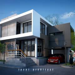บ้านพักอาศัย 2 ชั้น ตลิ่งชัน:  บ้านและที่อยู่อาศัย โดย LEVEL ARCHITECT, โมเดิร์น