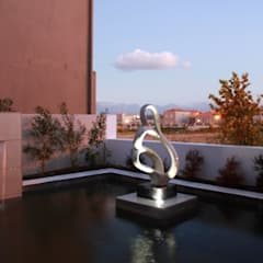 WATERFEATURE:  Garden by Greenacres Cape landscaping