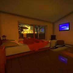 Dormitorios de estilo  por homify , Rural